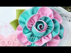 Como fazer flor de fita - YouTube