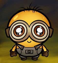 How to Draw a Chibi Minion, Step by Step, Chibis, Draw Chibi, Anime, Draw Japanese Anime, Draw Manga, FREE Online Drawing Tutorial, Added by Dawn, August 10, 2013, 5:46:41 am