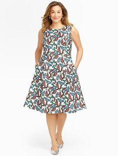 Talbots - Butterfly-Print Dress | 30% Off Dresses, Footwear & Accessories |