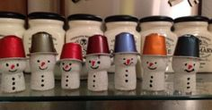 Champagne corks and Nespresso capsules make the cutest festive snowmen! Christmas Crafts For Kids, Xmas Crafts, Christmas Diy, Wine Cork Projects, Wine Cork Crafts, Cork Ornaments, Champagne Corks, Champagne Cork Crafts, Cork Art