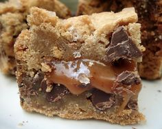 Cake of the Week: Salted Caramel Chocolate Chip Cookie Bars      I'm pretty sure these Salted Caramel Chocolate Chip Cookie Bars are inch-for-inch the most intense creation I've ever concocted.