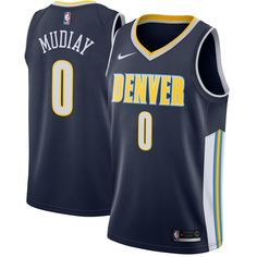 4c0ac59c5e5 Emmanuel Mudiay Denver Nuggets Nike Swingman Jersey Navy - Icon Edition