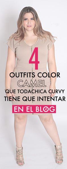 Ve en el blog los 4 outfits curvy color camel para intentar este Otoño-Invierno 2015. #mirelfashion #curvytips #curvyfashion