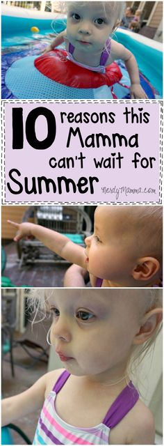 This mom's reasons for being excited about the summer--hilarious. She's so funny! #ad #SwimWays #IC