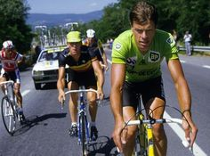 Eric Vanderaerden & Frank Hoste in de Tour de France -1984 - Cycling - Eighties