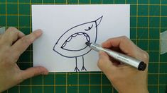 How to make a Fantastic Doodle Bird Card Make Your Own Card, How To Make, Bird Cards, Cool Cards, Card Making, Doodles, Creative, Scribble, Sketches