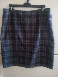 Old Navy Gray Plaid Skirt. Womens Sz 12 #OldNavy #StraightPencil