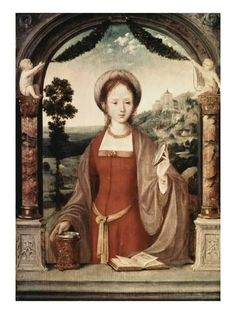 Quentin Metsys - Marie Madeleine - note the Sacral Knot of Inanna around her waist Costume Renaissance, Renaissance Kunst, Renaissance Paintings, Our Lady, Lady In Red, Maria Magdalena, Tableaux Vivants, Catholic Art, Art History