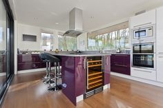 Modern kitchen with a lot natural daylight