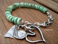 Turquoise Bracelet Sterling Silver Bracelet by SimpleeSilver