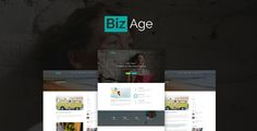 awesome BizAge - One Web page PSD Template (Company)