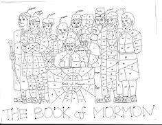 Grilla para marcar los capítulos leídos del Libro de Mormón.