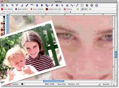 Software for making cross stitch patterns from your own images.