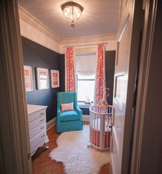 Trimwork/Color Scheme. Pretty for any room but especially a bedroom.