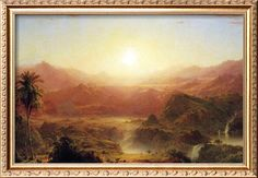 The Andes of Ecuador by Frederic Edwin Church. One of my favorite paintings.