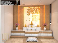 69 Ideas For House Entrance Furniture Foyers Altar, House Balcony Design, House Design, Living Room Designs, Living Room Decor, Temple Room, Temple Design For Home, Meditation Room Decor, Mandir Design
