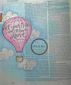 Artsy Faith | Colossians 3:2 Bible Art Journaling | Scripture Art