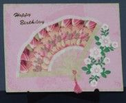 """#Free #templates on this site for #irisfolding like this """"Birthday Fan""""  for more ideas and sample card on Iris Folding  visit me at My Personal blog: http://stampingwithbibiana.blogspot.com/"""