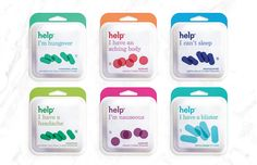 Help Remedies Paper Pack on Packaging of the World - Creative Package Design Gallery
