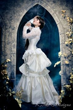 One-of-a-kind alternative wedding fashions from KMKDesigns