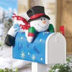 Stuffable Snowman Holiday Mailbox Cover Decoration $9.97