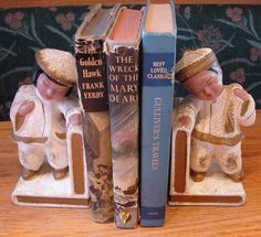 Vintage Ceramic Asian Girl and Boy Bookends by NopalitoVintageMore, $30.00