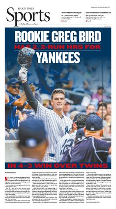 Rookie Greg Bird Has 2, 2-run HRs for Yankees in 4–3 Win Over Twins Epoch Times #Baseball #MLB #editorialdesign