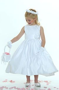 34 Best Classic Satin Flower Girl Dresses Images Bridesmaid Dress