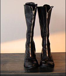 Guidi zipped biker boots