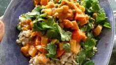 This is an easy vegetarian curry. It's rich, creamy, mildly spiced, and extremely flavorful. Serve with naan and rice.