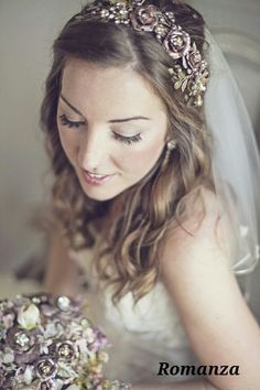 Floral band matching bouquet