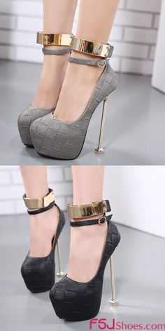 Women's Style Sandal Shoes Winter Fashion Grey, Black Almond Toe Gold  Stiletto Heels Ankle Strap Sandals New Year Holiday Party Outfit 2018 New Year Bucket List 2018 Women's Chic Fashion Illustration Italian Street Style Elegant Wedding Dresses Shoes| FSJ