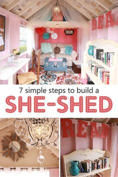 Kloter Farms didn't want to miss out on this growing trend of She-Sheds so we made our very own! If it sounds extravagent unrealistic or out of budget range throw that idea out the window! Here's 7 easy and affordable steps of how you can design your own. Girl Cave, Babe Cave, Woman Cave, Shed Design, Can Design, Design Your Own, Craft Shed, She Sheds, Shed Plans