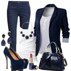 Navy, love the outfit overall but not really feeling the style of the heels though. ~Queeny