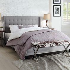 Kingstown Home Mackenna Wingback Bed | AllModern