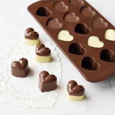 3 chocolate coração