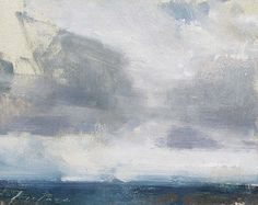 """Bodega Bay Cloud Study by Simon Addyman Oil ~ 8"""" x 10"""""""