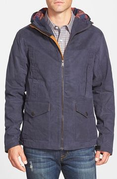 b6f3d2a1bc1 Timberland 'Mount Davis' Waxed Cotton Hooded Jacket | Nordstrom