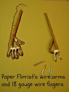 Woodstown Whimsies - fingers with wood and wire
