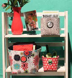 Nancy Zieman The Blog - Stay Organized with Simple Fabric Bins