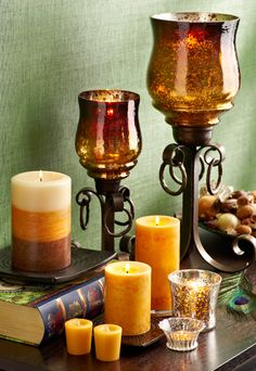 Pier 1 Bronze Metal Ring Hurricanes intensify a simple, warm glow from our Ember Fragrance Collection