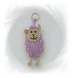 Schlüsselanhänger - Schaf Schlüsselanhänger - ein Designerstück von SaVo-Design bei DaWanda