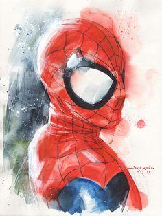 Spider-Man by Ricardo Drumond Marvel Comics Art, Marvel Comic Universe, Comics Universe, Marvel Heroes, Marvel Comic Character, Marvel Characters, Character Art, Fictional Heroes, Spiderman Art