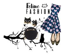 """""""Feline Fashion"""" by koolkolourz on Polyvore featuring Kate Spade and Betsey Johnson"""