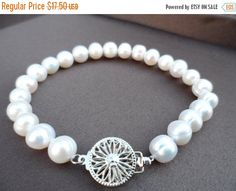 ON-SALE SALE  Bridal Pearl Jewelry  Genuine by Jenalynscreations