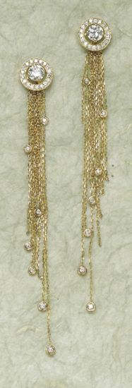 PHILLIPS : NY060109, Boucheron, A Pair of 'Ava' Diamond and Gold Ear Pendants