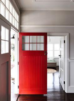 Barn Red Front Door Entryway 54 New Ideas Discount Interior Doors, Black Interior Doors, Brown Interior, Behr, Front Door Entryway, Entryway Ideas, White Internal Doors, Yellow Doors, Front Door Colors