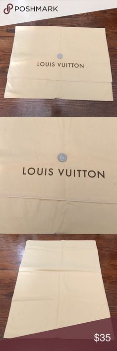 Authentic medium Louis Vuitton dust bag. 100% authentic. Perfect condition! Has some barely visible marks on the backside as pictured. Great size for medium/smaller bags. Perfect for storage of your luxury items. Coin is shown for scale only. I do not trade, but do accept offers. Thanks for looking and feel free to ask any questions. Louis Vuitton Bags