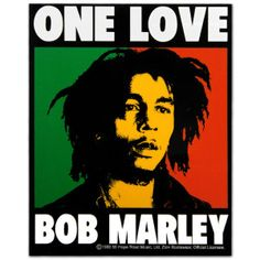 This Bob Marley Decal features stoic Bob Marley with a One Love theme design. Get yours at BobMarleyShop.com!