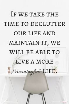 If you want to live a free, simple, and (mostly) stress-free life, you need to declutter your home. Owning too much can keep you from the life you want! If we take the time to declutter our life and maintain it, we will be able to live a more meaningful l Declutter Home, Declutter Your Life, Organizing Your Home, Home Organization, Decluttering, Organizing Tips, Organising, Planners, Meaningful Life